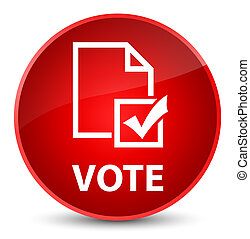Vote (survey icon) elegant red round button