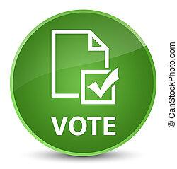 Vote (survey icon) elegant soft green round button