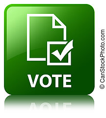 Vote (survey icon) green square button