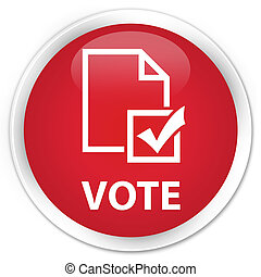Vote (survey icon) premium red round button