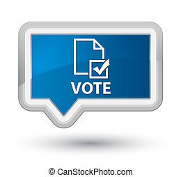 Vote (survey icon) prime blue banner button