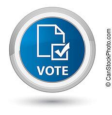 Vote (survey icon) prime blue round button