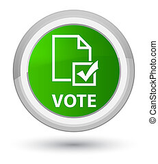 Vote (survey icon) prime green round button