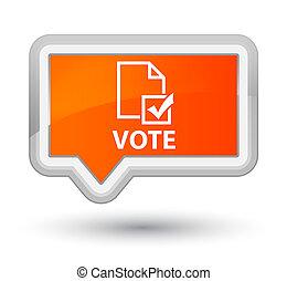 Vote (survey icon) prime orange banner button