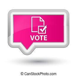 Vote (survey icon) prime pink banner button