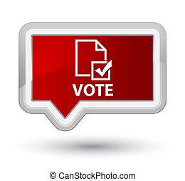 Vote (survey icon) prime red banner button