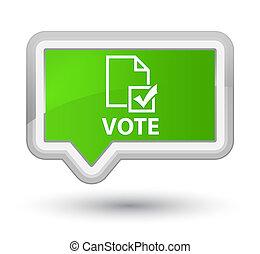 Vote (survey icon) prime soft green banner button