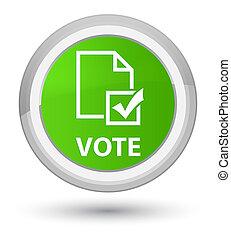 Vote (survey icon) prime soft green round button