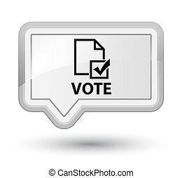 Vote (survey icon) prime white banner button