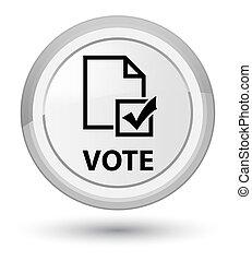 Vote (survey icon) prime white round button