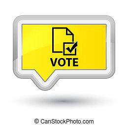 Vote (survey icon) prime yellow banner button