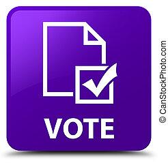 Vote (survey icon) purple square button