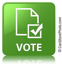 Vote (survey icon) soft green square button