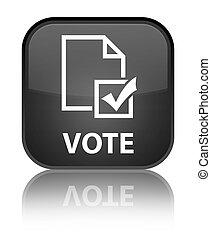 Vote (survey icon) special black square button