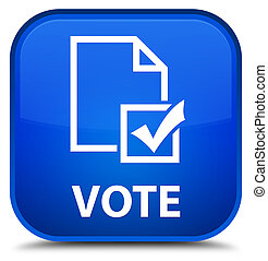 Vote (survey icon) special blue square button