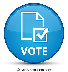 Vote (survey icon) special cyan blue round button