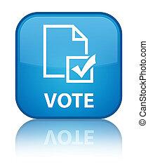 Vote (survey icon) special cyan blue square button