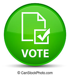 Vote (survey icon) special green round button