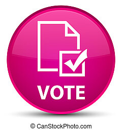 Vote (survey icon) special pink round button