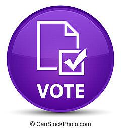 Vote (survey icon) special purple round button