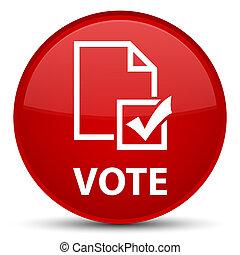 Vote (survey icon) special red round button