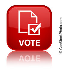 Vote (survey icon) special red square button