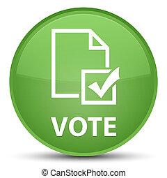 Vote (survey icon) special soft green round button