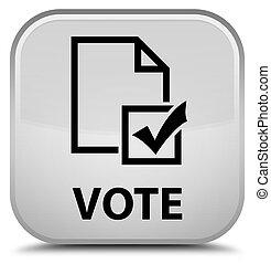 Vote (survey icon) special white square button
