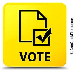 Vote (survey icon) yellow square button