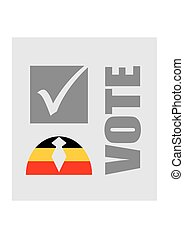 Vote text with check mark and human icon