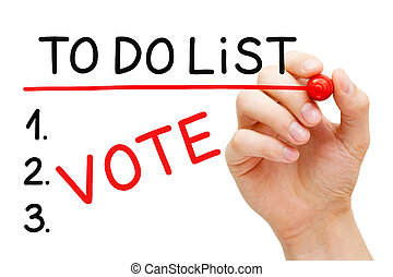 Vote To Do List Elections Concept