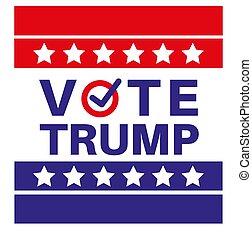 Vote Trump US American presidential election 2020 vector illustration