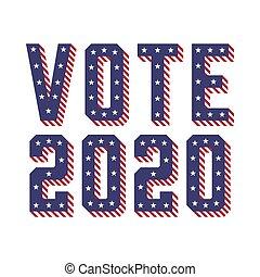 vote, (usa), 2020, amérique, uni, élections, etats