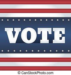 vote USA card