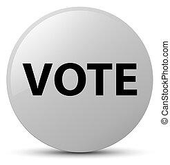 Vote white round button