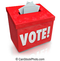 Vote Word Ballot Box Election Democracy - The word Vote on a...