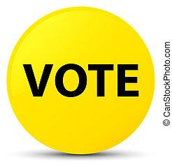 Vote yellow round button