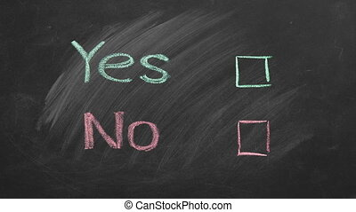 Vote Yes or No. Your choice. - Two voting checkboxes with ...
