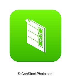Voted paper icon green