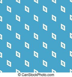 Voted sign pattern vector seamless blue