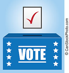 Voter Box  - Voter box with checked ballot