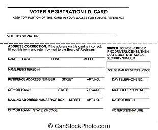 Voter Registration ID Card