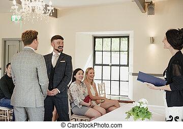 voti, uomini, due, loro, matrimonio, scambiare, giorno