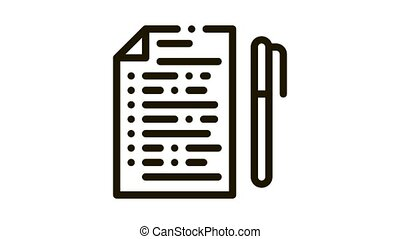 voting, значок, лист, анимация, ручка