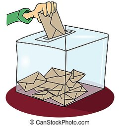 voting - A ballot box