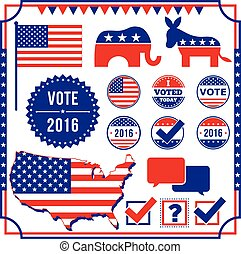 Voting and Election Element Set - Set of voting and election...