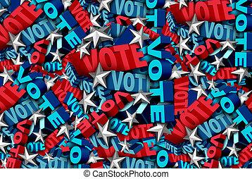 Voting And Vote Background - Vote background and election...