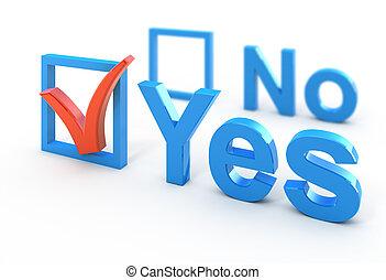 Voting concept 3d illustration