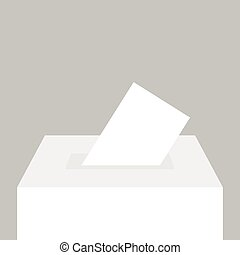 Voting concept in flat style.