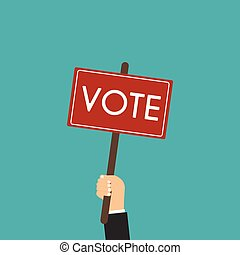 Voting concept in flat style, Presidential Election Voting Poster.